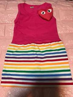 Clear Stock Sales !! Hot pink dress strip for 1-2yrs old brand new