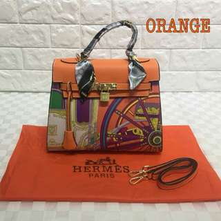 Hermes Kelly Orange Color
