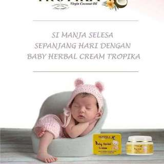 BABY HERBAL CREAM TROPIKA / 50gm.  Processing proceed upon full payment received via bank transfer
