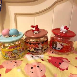 7-11 x Sanrio 玻璃瓶 Hello Kitty / Little Twin Stars / Melody