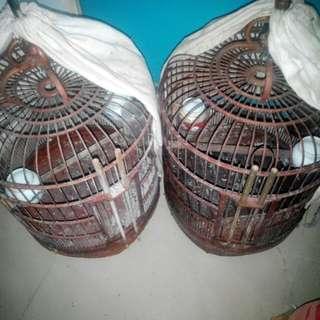 雀籠 2個