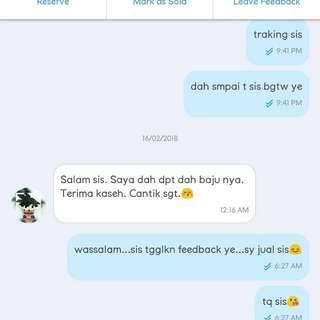 feedback cust😍