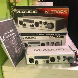 M-audio M-track ii (two channel USB audio interface)