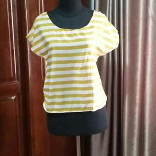 Baju Atasan Stripe Kuning