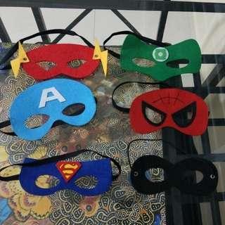 Superhero felt masks.