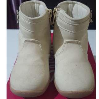 Beige Baby Boots