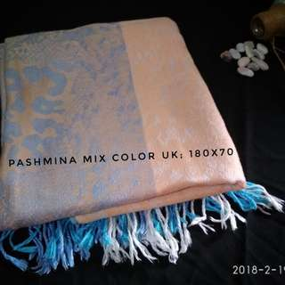 Pashmina mix color