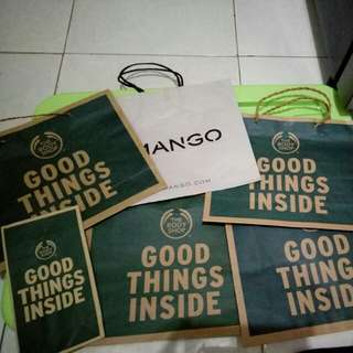 Paper Bag Mango,  Body Shop