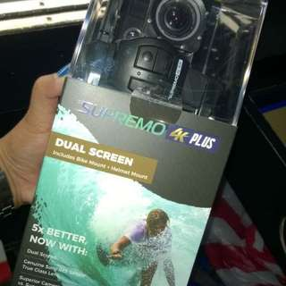 "Sealed Supremo 4k Plus Action Camera ""Original yet affordable highend camera"""