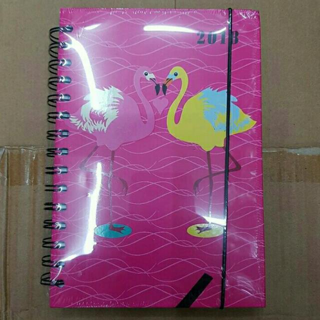 2018 Hard Bound Flamingo Planner