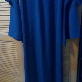 Gamis biru Dongker