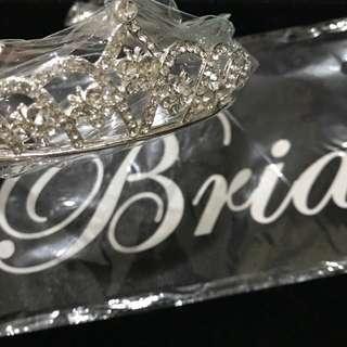 Tiara + Bride to be Sash