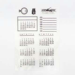 Bullet journal calendar stamping kit