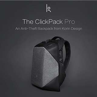 The ClickPack Pro Anti-Theft Backpack