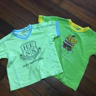 兩件童短袖上衣一起賣