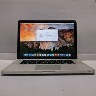 """[15"""" Core2Duo 4GB] Apple MacBook Pro 5,1 15"""" 2008 Late Core2Duo 4GB Ram 500 GB HDD (With Charger/USB mouse/Case)"""