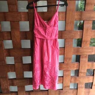 Pink Spaghetti Strap Dress (S)