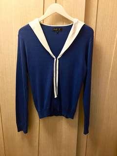 Agnes b sailor style navy blue cotton top⛴⚓️