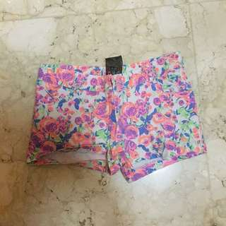 No brand flower neon short