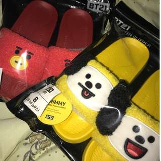 BT21 — TATA AND CHIMMY SLIPPERS