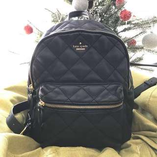 Kate Spade calf leather quilted backpack