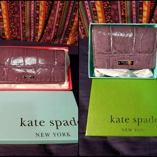 Kate Spade purple card holder and wallet