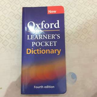 Oxford Pocket Learner's Dictionary (4th Edt)