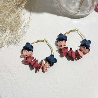 Flowers Loop Earrings
