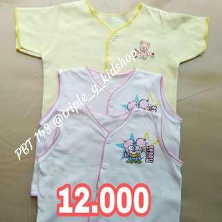 Kaos pendek kutung newborn