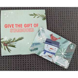 Starbucks Snowman Card With $10 Value