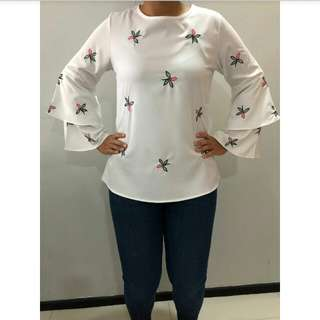 Floral Double Sleeve Blouse (RHH Collection)
