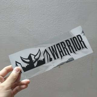 Warrior Sticker and Energy Drinks
