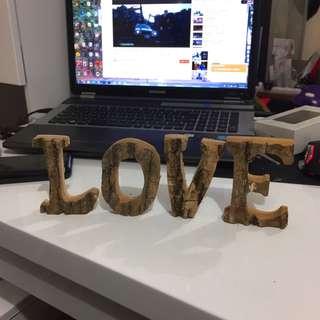 全新木製LOVE字擺設
