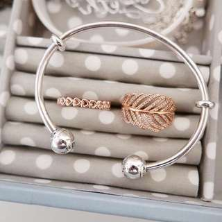 Pandora Rose Ring Open Bangle