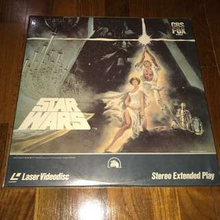 Star Wars laser disc