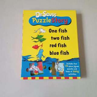 Dr. Seuss Puzzle Story: One Fish Two Fish Red Fish Blue Fish, Kid's Book