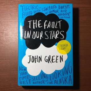JOHN GREEN SIGNED COPY of The Fault in Our Stars [Hardcover]