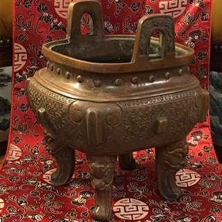 Antique Chinese Bronze Incense Burnet