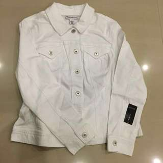 bnwt white denim jacket
