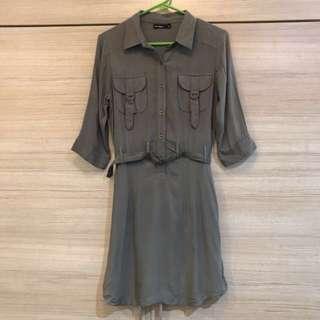 Penshoppe Military Green Dress