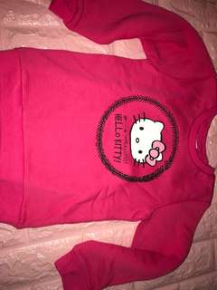 Instock hello kitty thick Long sleeve TOP Brand New for 3-4yrs old