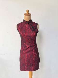 [PREMIUM] cheongsam dress RED