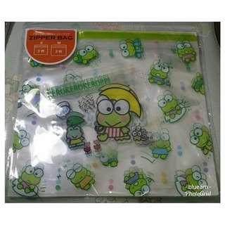 Sanrio Character Zip Bag - Keroppi Zipper Bag Set 青蛙拉鍊袋套裝