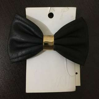 H&M Black Leather Bow