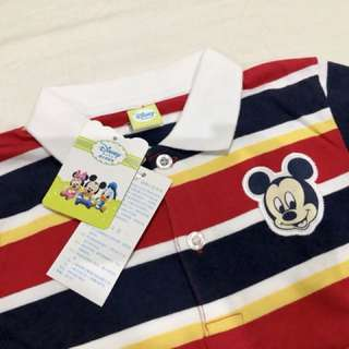 Mickey Mouse Striped Polo Shirt