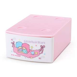 Japan Sanrio Little Twin Stars Mini Stacking Case with Memo