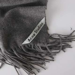Acne Studio Fringed Scarf 100% wool