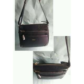 *真皮包 牛皮 全新Diana Janes 黛安娜 紫色 肩背包 手提包側背包 斜背包 小平板包 展示包 特價