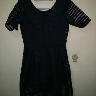 dress biru dongker/ navy