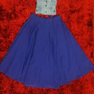 Blue midi skirt (O.P. 200)
